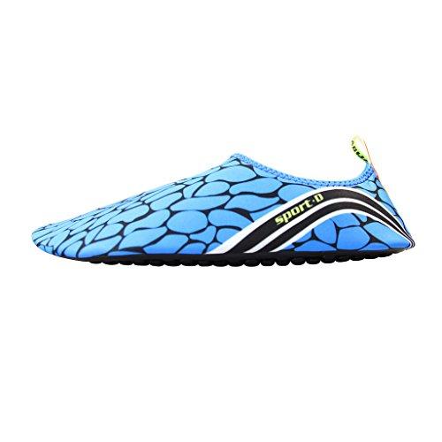 Unisex Strandschuhe Aquaschuhe Breathable Schlüpfen Schnell Trocknend Schwimmschuhe Surfschuhe für Damen Herren Kinder Baby Blau3