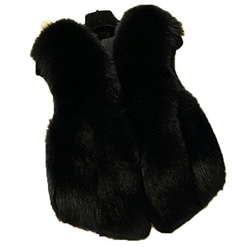 FOLOBE Kind Faux Fox Pelz Mantel Jacke Weste heißen Winter Warm Gilet Outwear kurz Slim Weste