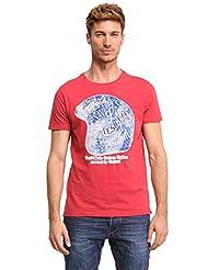 Desigual Ignacio - T-shirt - Uni - Col ras du cou - Manches courtes - Homme