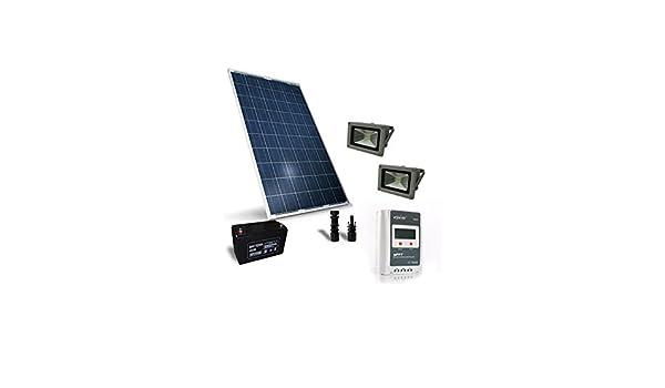 Kit solare illuminazione w v per esterni fotovoltaico stand