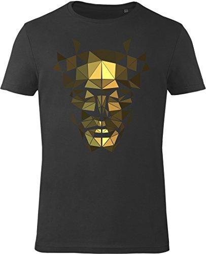 GOZOO Deus Ex T-shirt Uomo The Golden Mask 100% Cotone Nero L