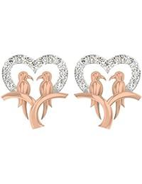 TBZ - The Original 18k Rose Gold and Diamond Stud Earrings