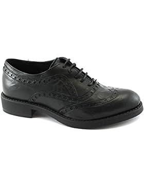 Divine Follie 1301 nero scarpe donna pelle francesina puntale