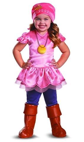 Disguise Girl'Disney Kinder Jake und die Nimmerland Piraten-Kostüm, 2T Sitzsack Deluxe