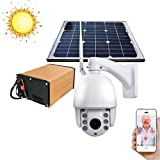 Balscw-J Solar Powered Outdoor Wireless Security Camera 1080p HD Wire-Free Night Vision Alarm Alert & Motion Sensor Built-in 64G SD