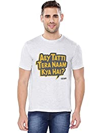 The Souled Store AIB: Tera Naam Kya Hai? Funny Printed LIGHT GREY MELANGE Cotton T-shirt for Men Women and Girls