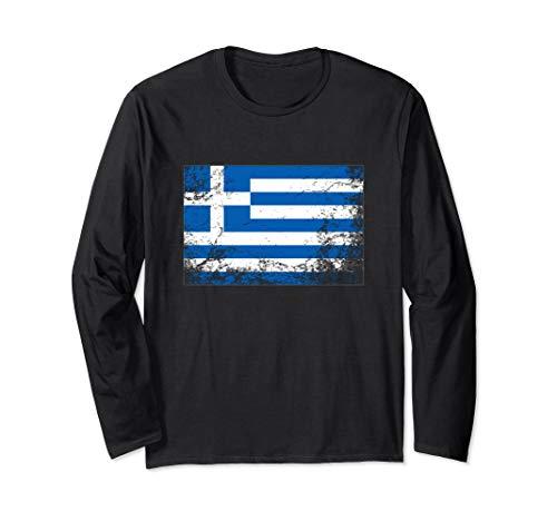 Griechenland Flagge für Männer und Frauen Langarmshirt -