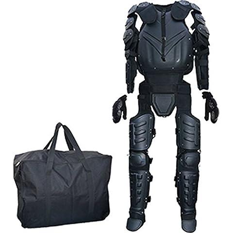 CI SWAT Traje de protección Protectores SWAT Policía Traje Armaduras Cuerpo de talla M XL, negro