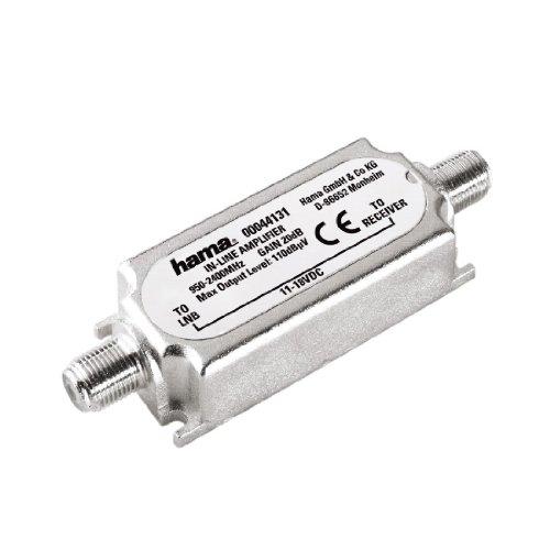 Hama amplificatore in linea per trasmissioni satelitari, 20db, grigio
