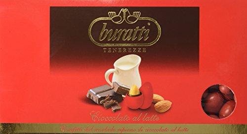 Buratti confetti alla mandorla ricoperta di cioccolato, tenerezze rosse - 1000 g