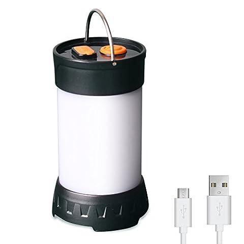 Camping Laterne Led wiederaufladbare Taschenlampe wasserdicht magnetische Zelt Light180 5 Lumen Helligkeit für Outdoor (1 Packung)