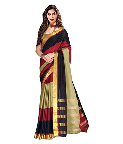 VINTAGE Girls cotton saree(VINTAGE O21_multi colour_Freesize)