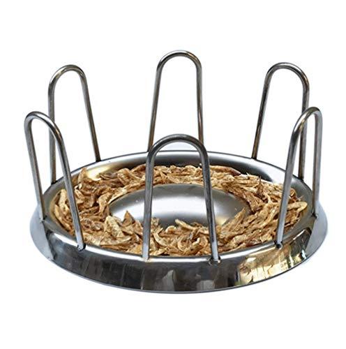 304 Edelstahl Durchmesser Rundes Geländer Form Turtle Bowl Edelstahl Schildkröte Futternapf Lebensmittelqualität Reptile Feeder -