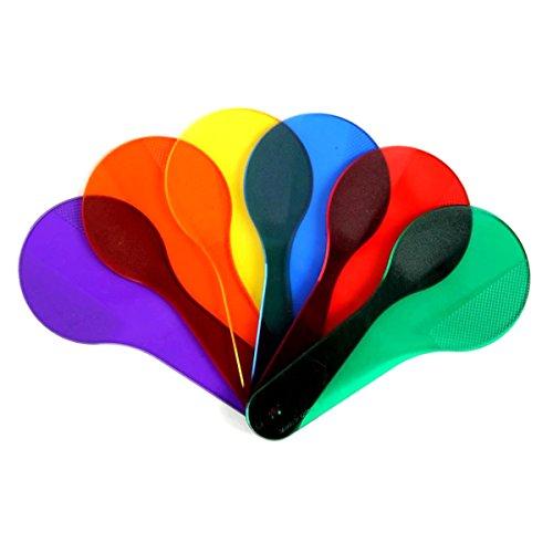TOYMYTOY 6pcs Baby Spiel Farben Lernen Pädagogische Frühen Ausbildung Spielzeug Kunststoff Clappers