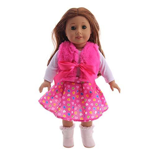 Zolimx Chirstmas Kleidung Kleid Pullover Kleidungs für Puppe, Puppenkleidung Zubehör Mädchen Spielzeug 18 ()