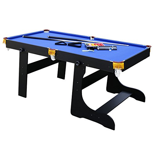 HLC 6 FT 188*97*79 CM faltbarer Billardtisch Pool Snooker Tischspiel Blau