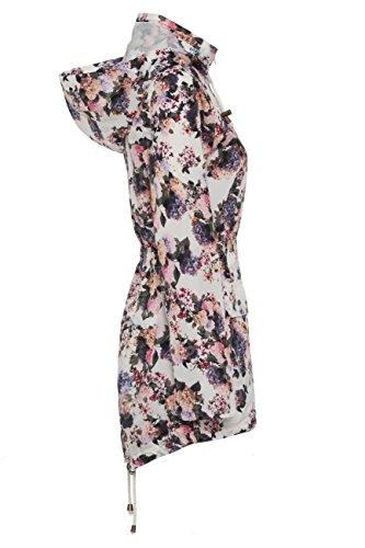 SS7 Damen Blumenmuster Regenmantel, Größen eu 36-44 - Blumen Druck, Damen, 38 -