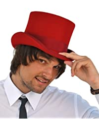 Christys Of London Wool Felt Top Hat - Red - Large