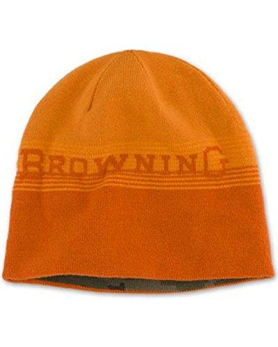 Browning Men's Alpine Reversible Orange and Camo Beanie Orange One Size (Camo Beanie Reversible)