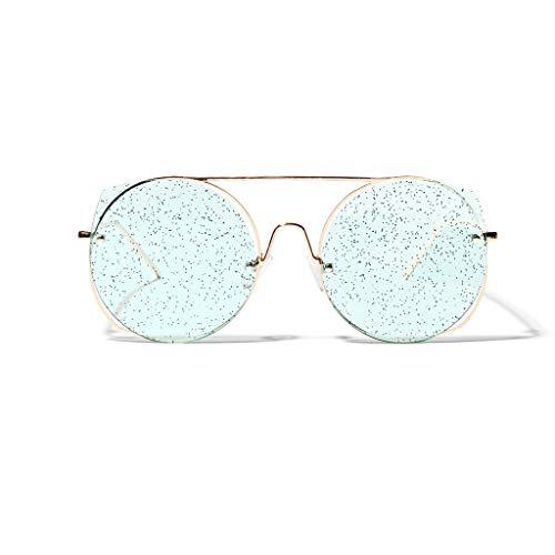 Retro Katzenauge Nerdbrille,Damen Mode Matte Sunglasses Original Klassische Partybrillen Neuheit Pilotenbrille Look clear Brillen,WQIANGHZI mit Federscharnier im Steampunk Stil Ray Ban (B)