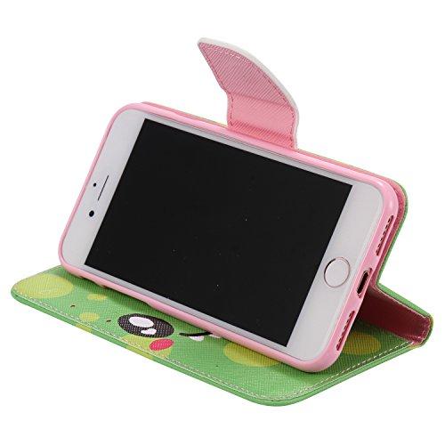 PU Silikon Schutzhülle Handyhülle Painted pc case cover hülle Handy-Fall-Haut Shell Abdeckungen für Smartphone Apple iPhone 7 (4.7 Zoll)+Staubstecker (1) (9AE) 5