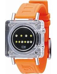Binary THE ONE Razor Block RB902W3OR - Reloj digital unisex de cuarzo con correa de goma naranja