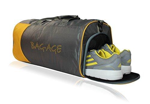 Bag-Age Nylon Softsided Grey Duffle Bag (21 x 11 x 12 IN)