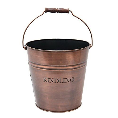17L Kupfer Anzünder Holz Container Bucket für Feuerstellen und Grills (Grill Alfresco)