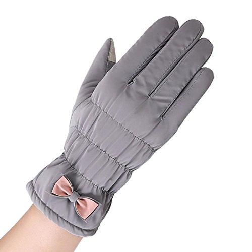 Handschuhe Damen Longra wasserdichte winddichte Handschuhe Winter Outdoor Sport Ski Warm Handschuhe (Im Kostüm Baby Ofen)