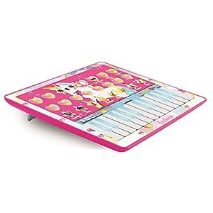 LEXIBOOK Unicornio, Tableta, Juguete Musical para niños, Piano de 24 Teclas, 8 Canciones de demostración, Rosa/Azul - KBPAD100UNI, Color