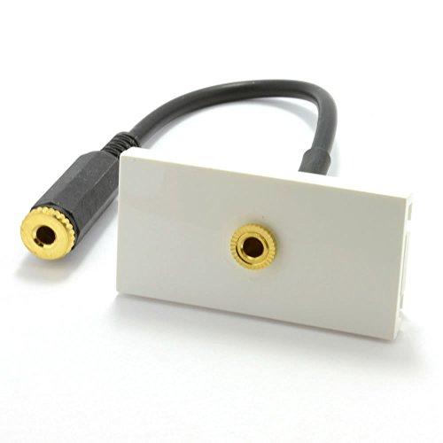 Fertig Gemacht Unterputzdose Module 3,5 mm Stereo Klinkenstecker Panel Montage Stummel 15 cm -