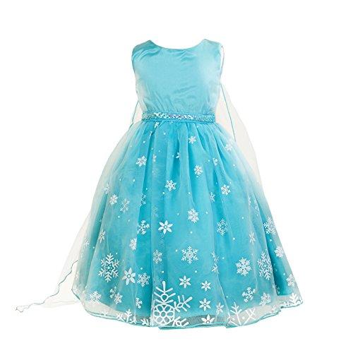 Schneeflocke Kostüme Prinzessin Mädchen (Prinzessin Kleid, Samber Mädchen Kleid Schneeflocken Weihnachten Verkleidung Karneval Party Prinzessin Kostüm (für Höhe)