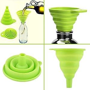 eventos tolva: Idea alta calidad Gadgets 1 Mini Gel plegable estilo embudo Hopper Cocina Acceso...