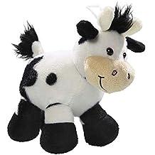 Carl Dick Peluche - Vaca, Toro de Color Blanco y Negro (Felpa, 15cm