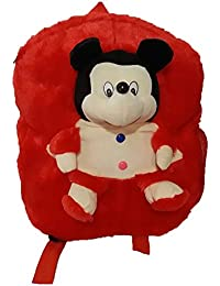Pari Toys Red Color School Bag For Kids, Travelling Bag, Picnic Bag, Carry Bag With Soft Material 15 Inch