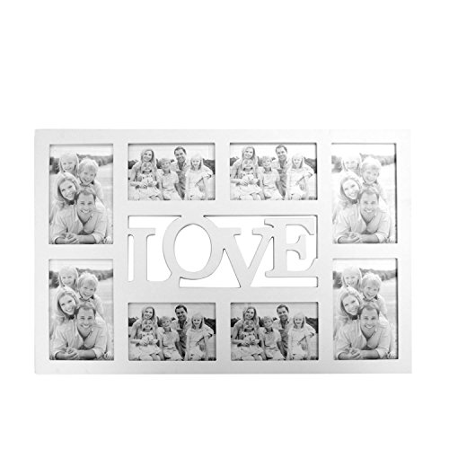 LO+DEMODA HCN2051-11 - Portafotos colgante, diseño Love, para 8 fotos, multicolor