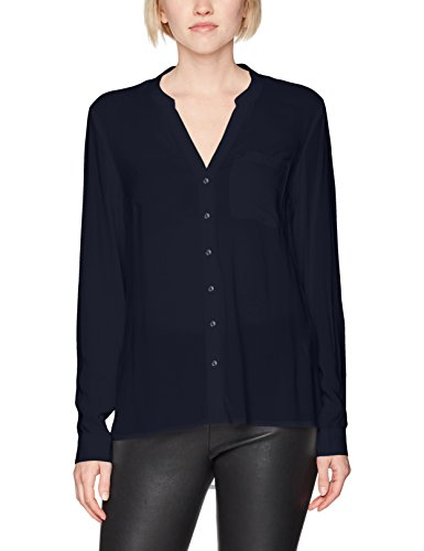 VERO MODA Damen Bluse Vmsue Ella L/S Shirt Noos Blau (Navy Blazer Navy Blazer)
