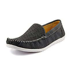 Rosso Italiano Mens Black Loafers Shoe (ril499bl303) 6