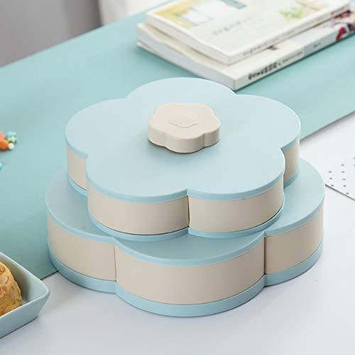 Snack Tray Flower Shape Set & Deckel Vorratsbehälter BPA frei Servierplatte Kunststoff getrocknete Früchte, Nüsse & Süßigkeiten für Party Snack Tray Set