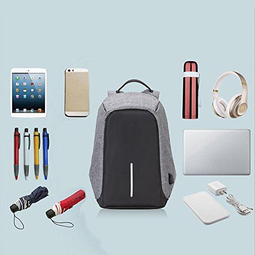 Salon Styler Haarbürsten großes Fassungsvermögen Laptop Rucksäcke PC BAG TRAVEL RUCKSACK Diebstahlschutz mit USB Lade-Schnittstelle Schwarz