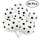 TOYMYTOY 20Pcs 12Inch Party Balloon Soccer Latex Rubber Balloons for Decoration 3.5g (Football Pattern)