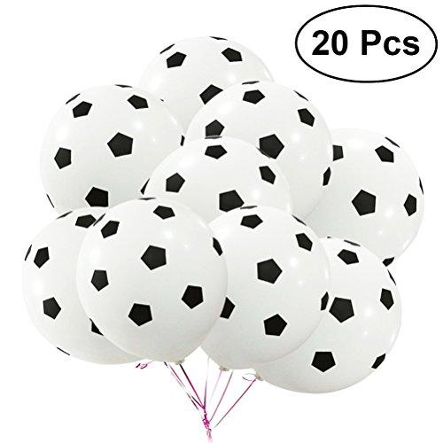 12 Zoll Party Fußball Luftballons Latex Rubber Luftballons für Dekoration 3,5g (Fußball Muster) ()