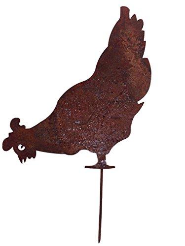 gartenstecker-edelrost-pickendes-huhn-hohe-29-cm