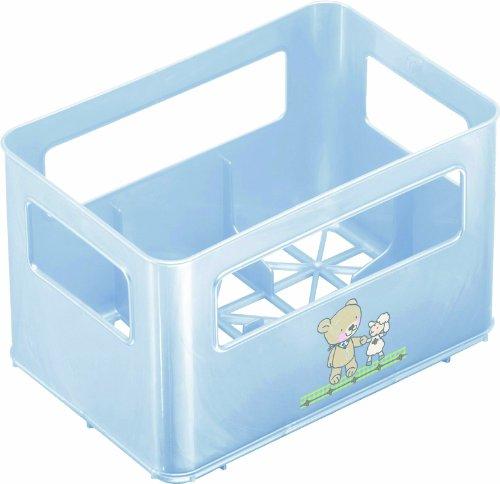 Rotho Babydesign 300360103AZ Flaschenbox, 21.5 x 14.5 x 13.6 cm, babybleu perl / lindgruen perl / weiss