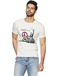 Wrangler Men's Solid Regular Fit T-Shirt