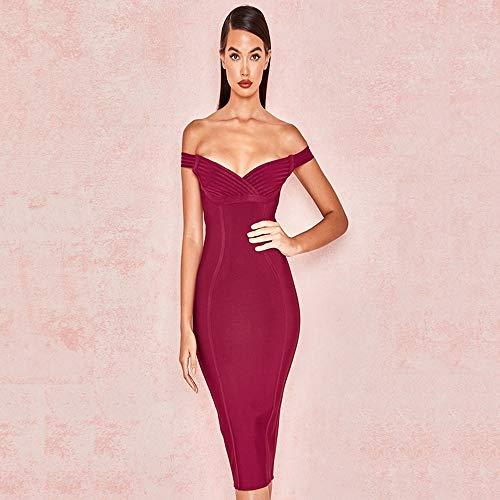 Solide Bandage Frauen Trägerlosen Neue 2019 Sexy R Shengshiyujia Frühling Mini Vestidos Bodycon Dress Abendgesellschaft Kleider Kleidung gb76yYfv