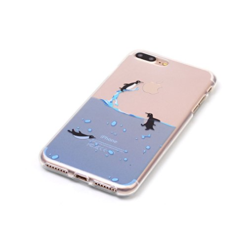 iPhone 7 Custodia,iPhone 7 Case,Patate piuma animato Custodia in TPU Gel Ultra sottile [Trasparente] Custodia protettiva in gomma flessibile case cover para for iPhone 7 4.7 inch colour 2