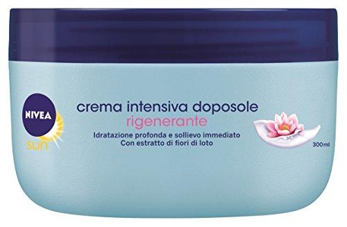 Nivea - sun, crema intensiva doposole, rigenerante, con estratto di fiori di loto - 300 ml
