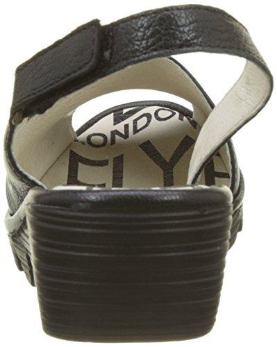 Fly London Palp814fly, Sandali con Cinturino Alla Caviglia Donna Nero (Black)