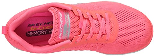 Skechers Flex Appeal 2.0 Break Free, Baskets Basses Femme Rose (Crl Corail)